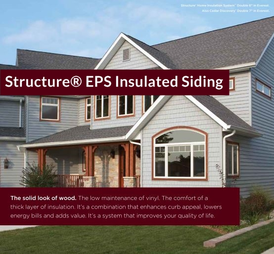 Structure® EPS Insulated Siding