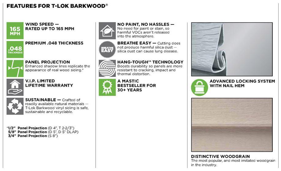 T Lok Barkwood General Siding Supply 1709 Mason Street