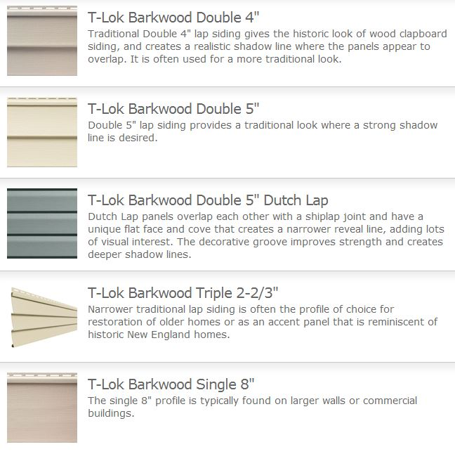 T Lok Barkwood General Siding Supply 1709 Mason Street