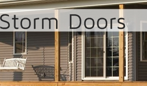 Storm doors from  General Siding Supply